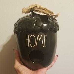 RAE DUNN BLACK ACORN HOME BIRDHOUSE